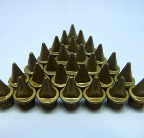 7mm Gold – Lite Pyramid Spikes