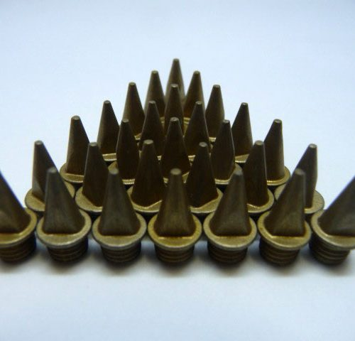 9mm Gold – Lite Pyramid Spikes