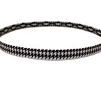 Houndstooth Cross-Grip Hairband