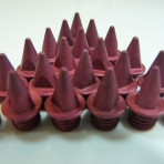 7mm Red – Lite Pyramid Spikes