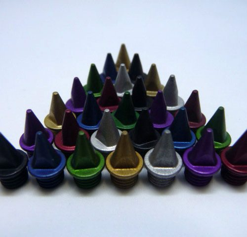 7mm Multi Colours – Lite Pyramid Spikes