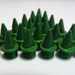 7mm Green – Lite Pyramid Spikes