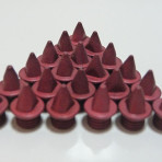 5mm Red – Lite Pyramid Spikes