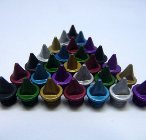 5mm Multi Colours – Lite Pyramid Spikes
